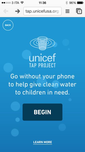 UNICEF Tap Project smartphone