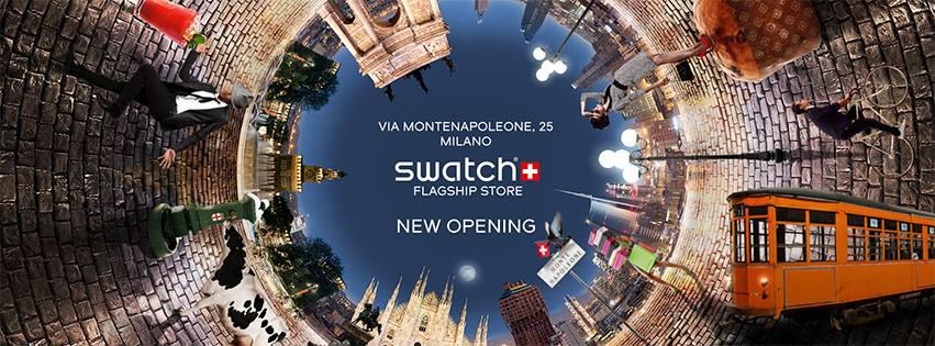 swatch flagship store Milano Montenapoleone