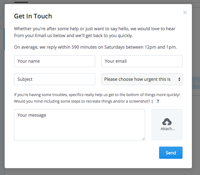 buffer - contact form