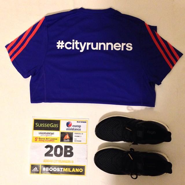 Tutto pronto per la staffetta #cityrunners alla #milanomarathon